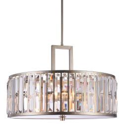 Złoto srebrna lampa wisząca nad stół do salonu Modern Classic