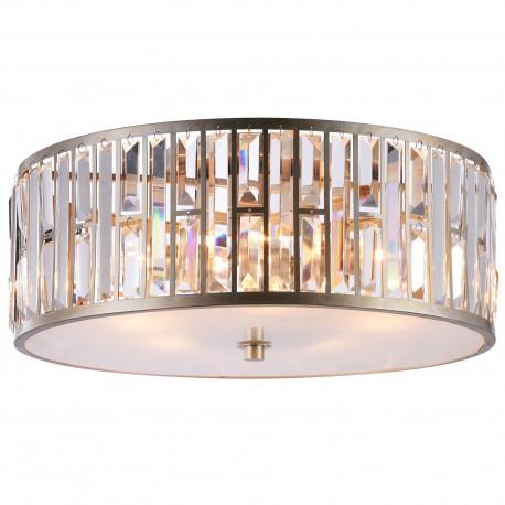 Lampa plafon sufitowy złoto srebrny z kryształami Modern Classic