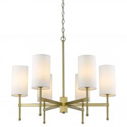Złota lampa wisząca z abażurkami Modern Classic