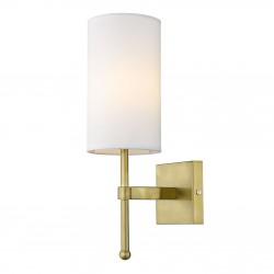 Złoty kinkiet Modern Classic z białym abażurkiem