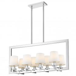 Długa lampa nad stół z abażurkami New York