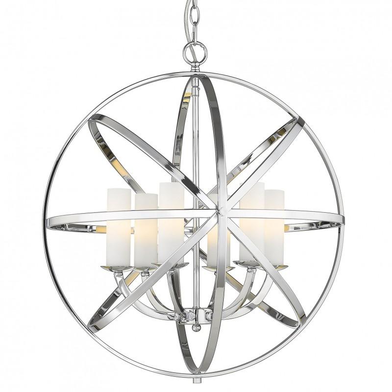 Lampa niklowane obręcze do salonu holu Hamptons