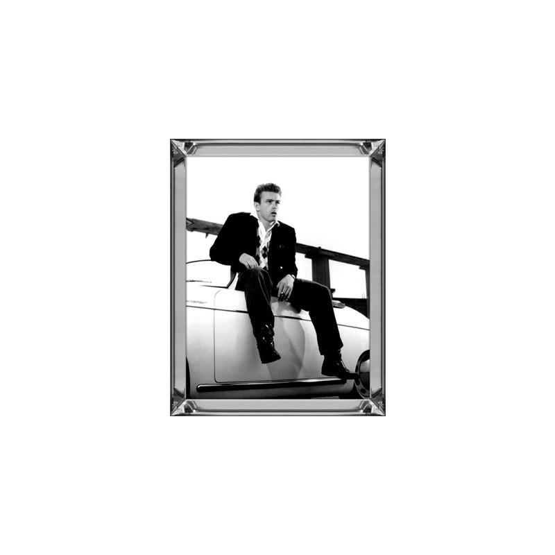 Obraz w lustrzanej ramie 70x90 Modern Classic James Dean