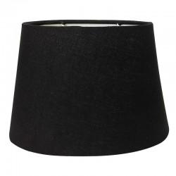 Abażur owalny na kinkiet w eleganckim czarnym kolorze