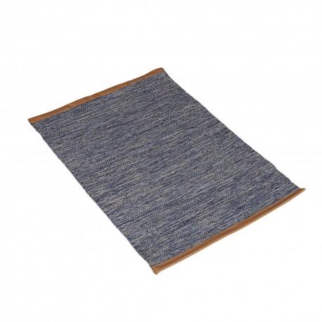 Pleciony niebieski bawełniany dywan Hamptons