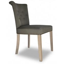 Beżowe eleganckie krzesło tapicerowane Glamour-producent