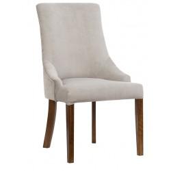 Proste eleganckie krzesło Modern Classic tapicerowane w kolorze naturalnym