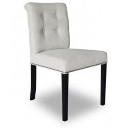 Eleganckie jasne krzesło do salonu New York