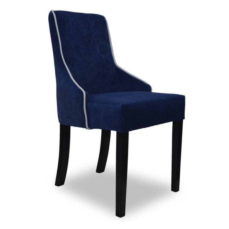 Eleganckie granatowe wygodne welurowe krzesło do salonu jadalni Modern Classic