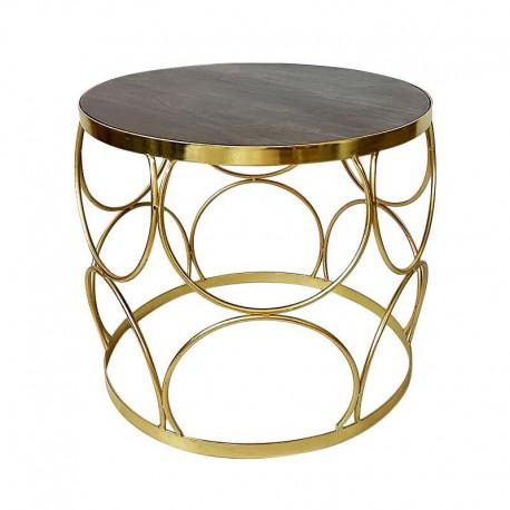 Złoty stolik boczny 50X44 /kawowy wnetrza Art Deco