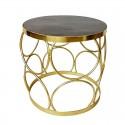 Złoty stolik boczny 40X40 /kawowy wnętrza Art Deco