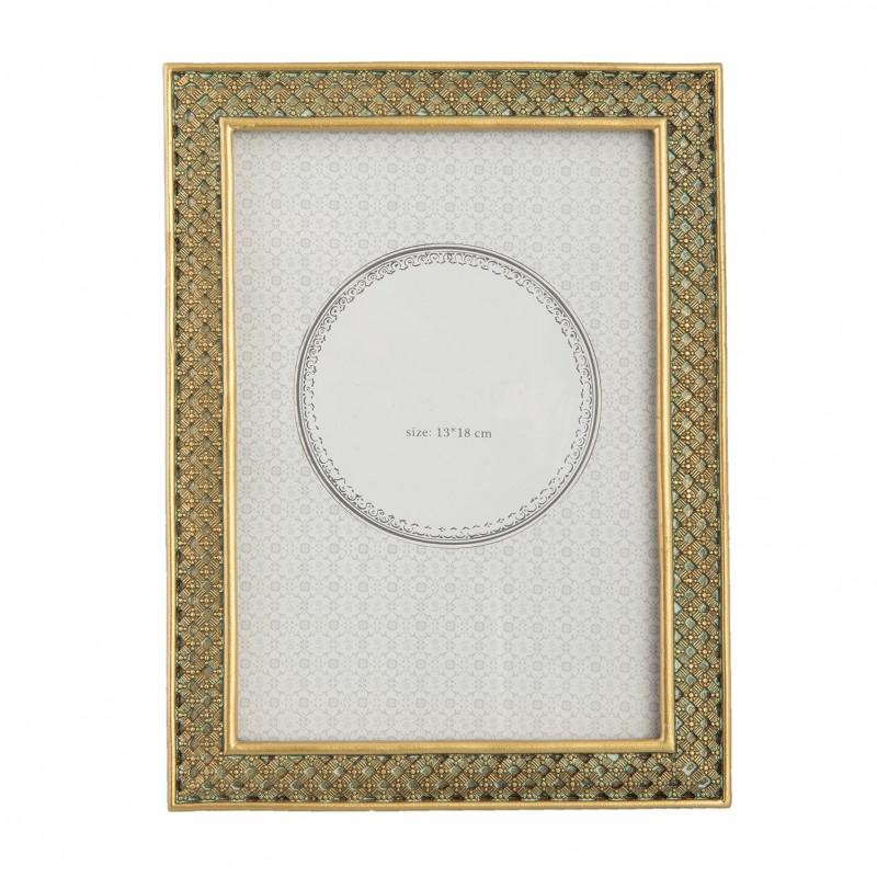 Złota ramka na zdjęcie 20 x 15 do sypialni New York Glamour Art Deco