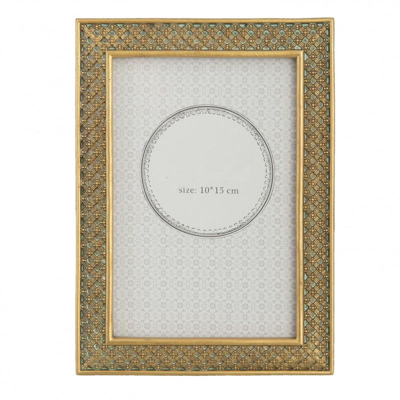 Złota ramka na zdjęcie 18 x 13 do sypialni New York Glamour Art Deco