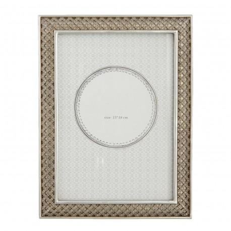 Srebrna ramka na zdjęcie 20 x 15 do sypialni New York Glamour