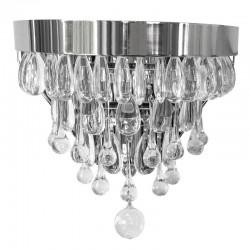 Luksusowy szklany kinkiet do salonu na klatkę Glamour New York