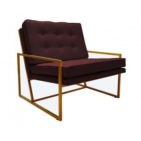 Luksusowy fotel na metalowym sletarzu w modnym kolorze