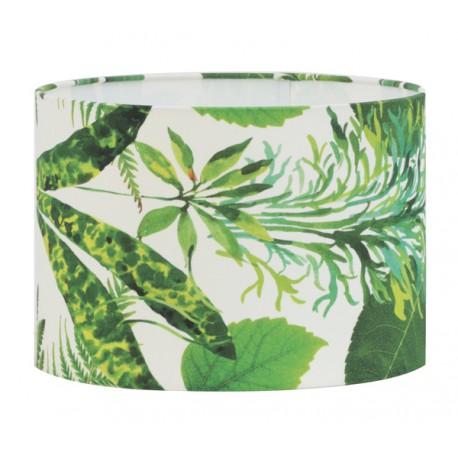 Modny abażur Ø30 lampa stołowa z tripikalnym motywem Etno