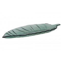 Szklana zielona tacka w kształcie liścia w stylu Etno