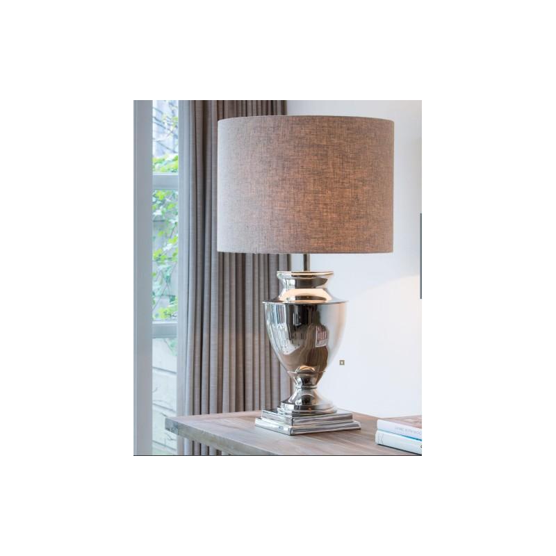 lampy stołowe niklowane