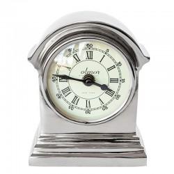 Niklowany zegar na stolik nocny lub komodę