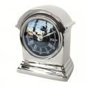 Niklowany elegancki zegar na stolik nocny lub komodę