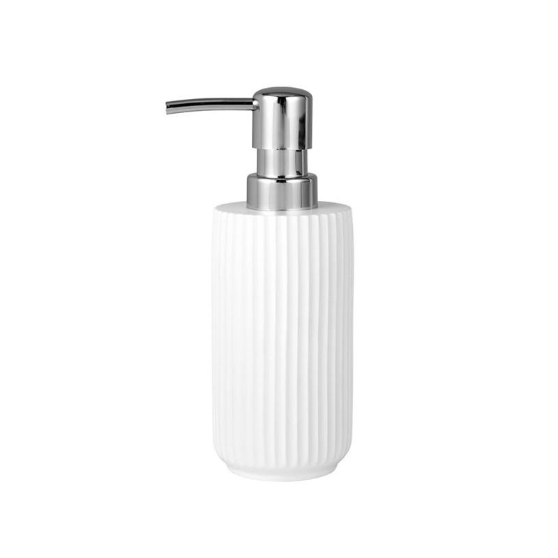 Lene Bjerre nowoczesny biały dozownik do mydła w płynie