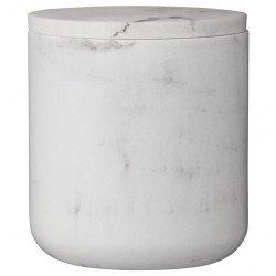 Lene Bjerre luksusowy pojemnik łazienkowy na waciki patyczki efekt marmuru