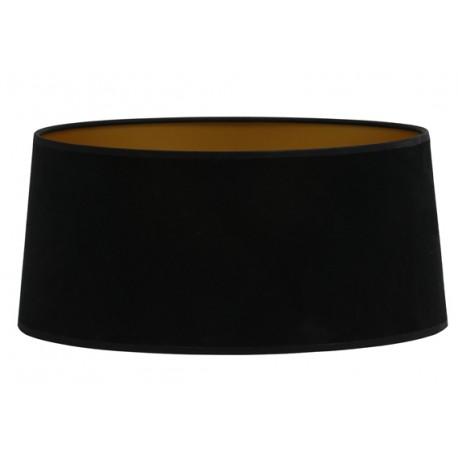 Czarny welurowy abażur lampa podłogowa Art Deco