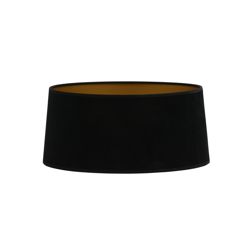 Czarny welurowy abażur Ø45 lampa podłogowa Art Deco
