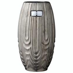 Lene Bjerre ceramiczny wazon h26 w kolorze cyny