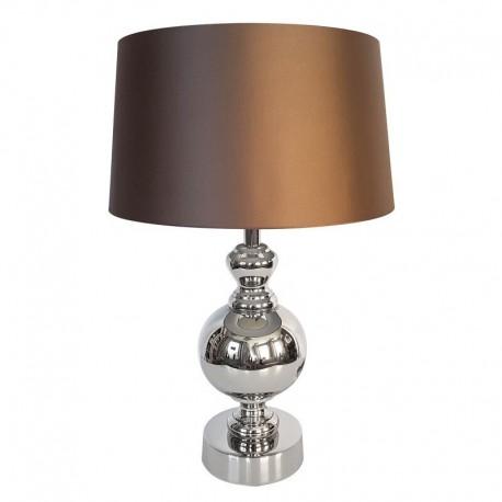 Niklowana lampa stojąca Modern York