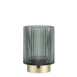 Lene Bjerre luksusowy ciemno zielony szklany lampioin Art Deco