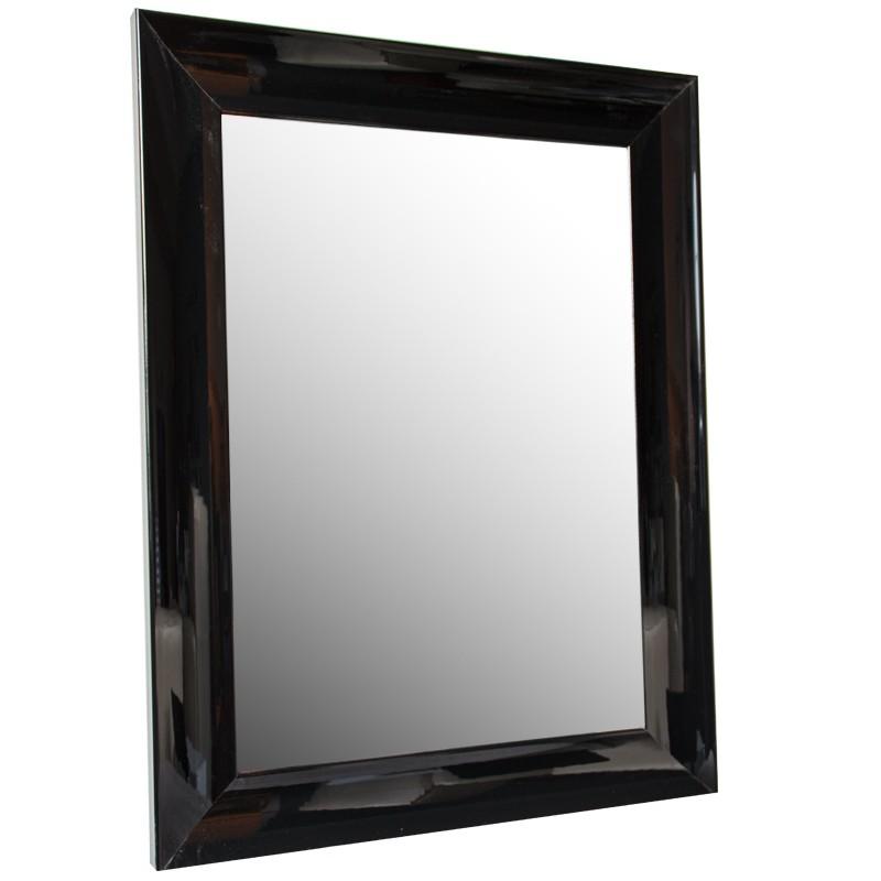 Duże lakowane lustro 56 x 136  wiszące Modern Classic  Glamour fazowane  do przedpokoju