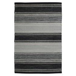 Czarno szary bawełniany chodnik 70x140 do sypialni kuchni Hamptons
