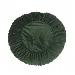 Welurowa zielona okrągła poduszka Ø50