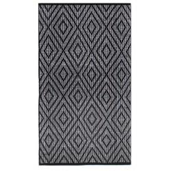 Czarno biały 70x140 żakardowy bawełniany chodnik do kuchni Hamptons