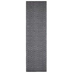 Czarno-biały 70x240 żakardowy bawełniany chodnik do przedpokoju Hamptons