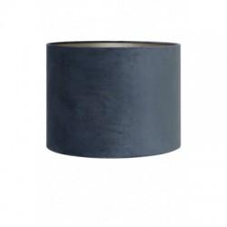 Luksusowy szaro niebieski Ø25 welurowy abazur lampa stojąca-stołowa