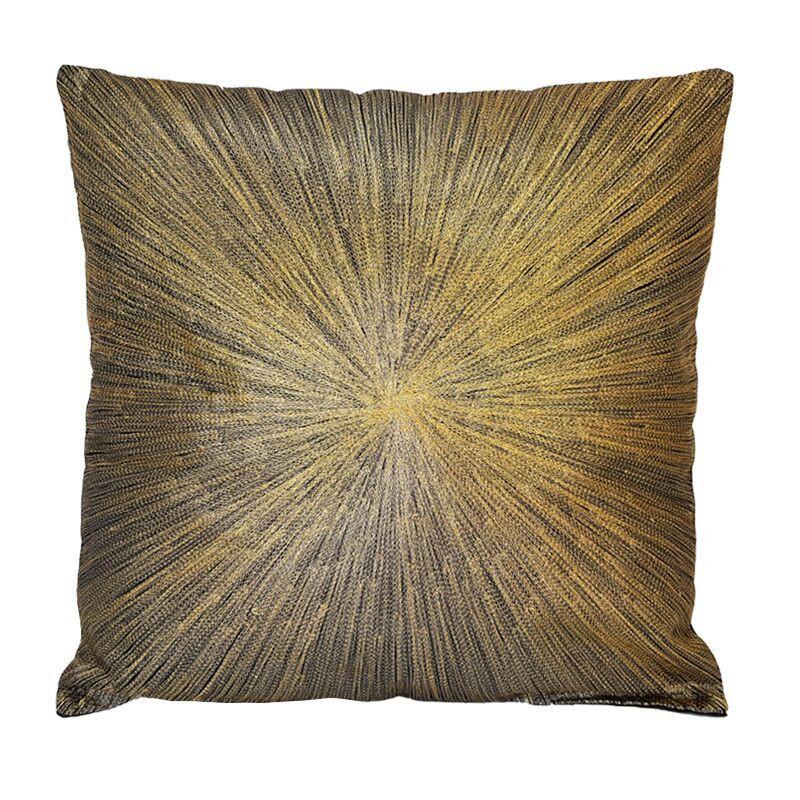 Luksusowa złoto czarna wyszywana poduszka Art Deco