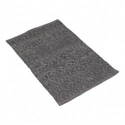 Bawełniany szary chodnik 70x200 do sypialni, przedpokoju