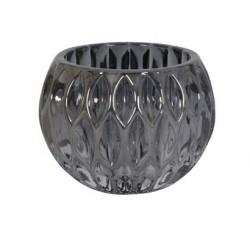 Szklany czarny lampion Glamour