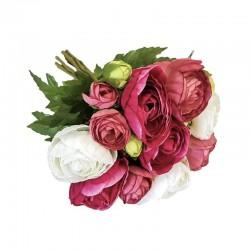 Elegancki bukiet kwiatów do wazonu biel/wrzosowy róż