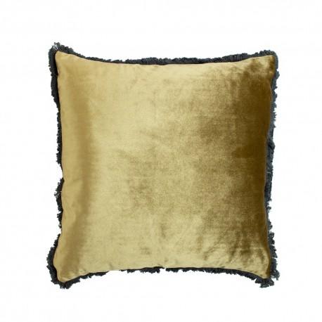 Modna luksusowa aksamitna poduszka 45x45w złotym kolorze