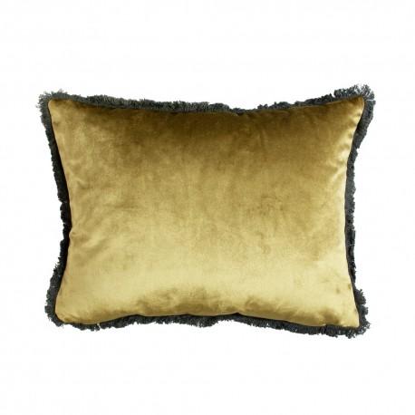 Modna luksusowa aksamitna poduszka 45x35w złotym kolorze