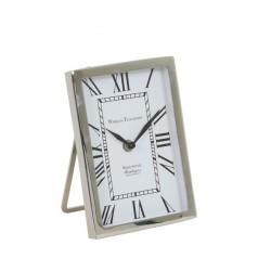 Niklwany zegarek do postawienia na stolik Modern Classic