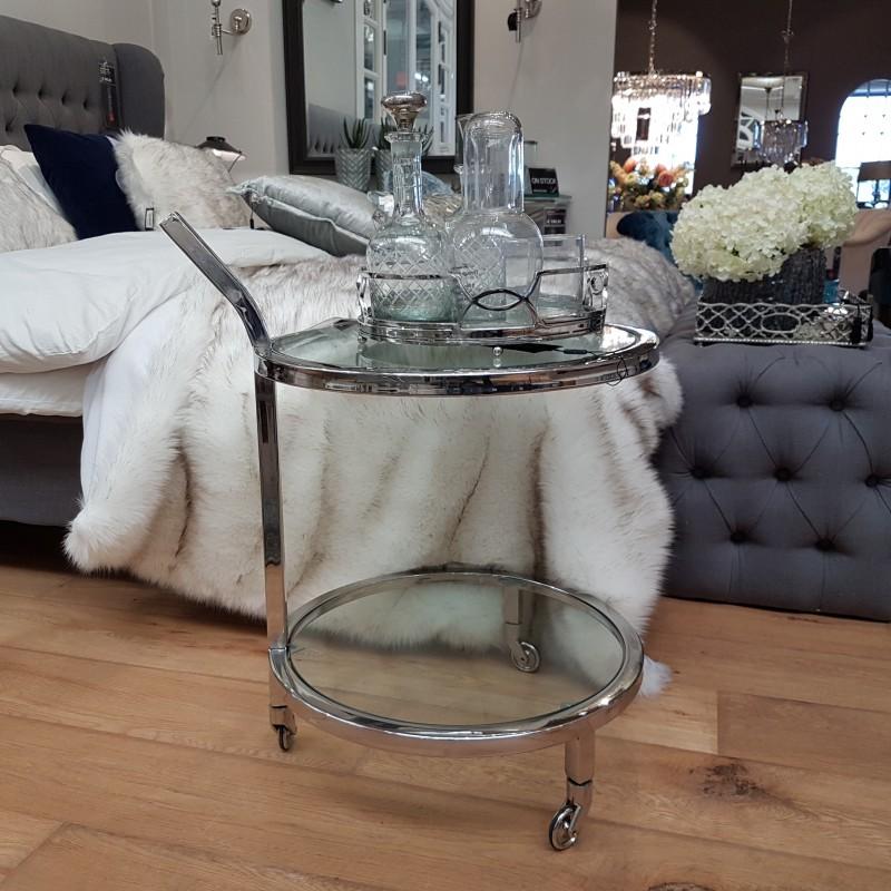 Luksusowy niklowany barek do salonu sypialni New York