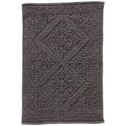 Miękki i puszysty szary dywanik do łazienki Lene Bjerre