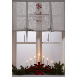 Bawełniana świąteczna roleta 100x120 na okno kuchenne