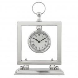 Elegancki zegar na kominek konsolę w klimacie Modern Classic
