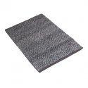 Gruby bawełniany dywan 140x200 w szarym kolorze